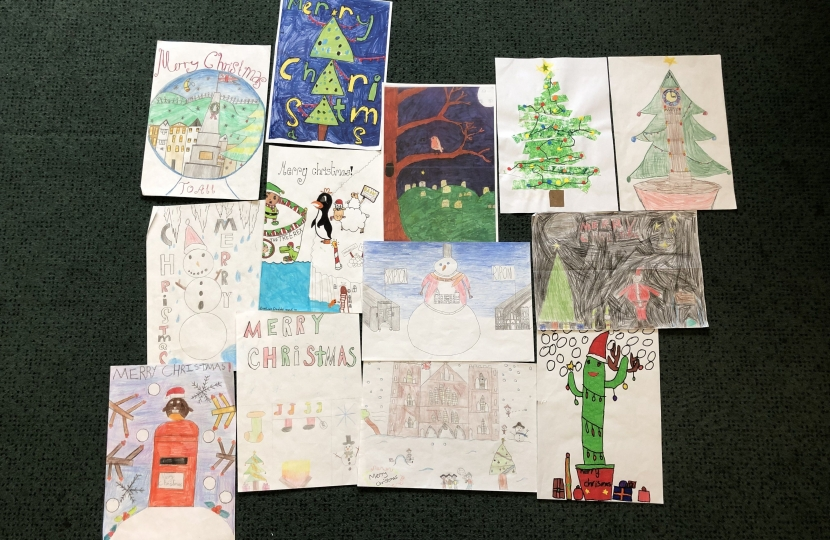 Christmas card entries