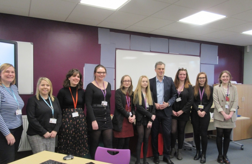 SGHS students with Julian Smith MP