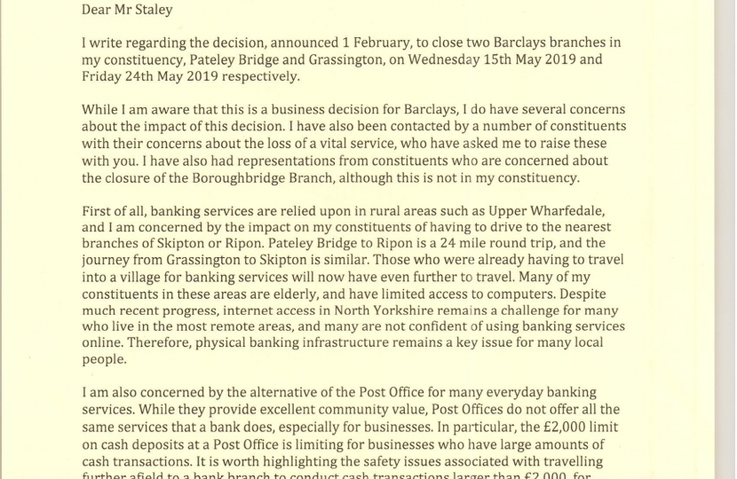 Julian Smith's letter to Barclays