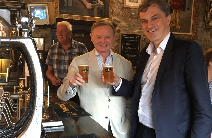 Julian Smith at Theakston's Brewery with Simon Theakston