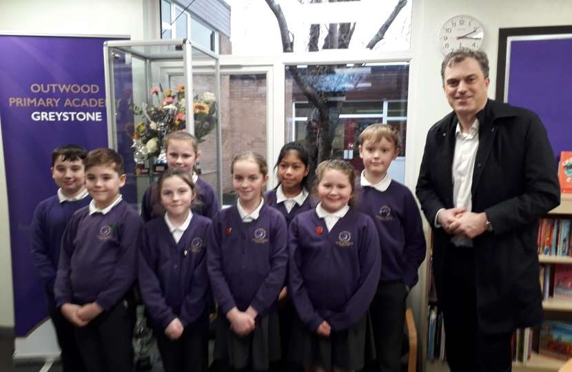 With the Pupil Parliament at Outwood
